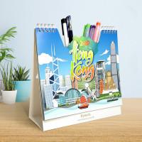 筆插紙質座枱月曆(CH001)
